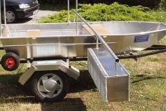 Barque fait main - réalisation unique en aluminium