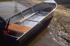 Barque fait main - réalisation unique en aluminium_52