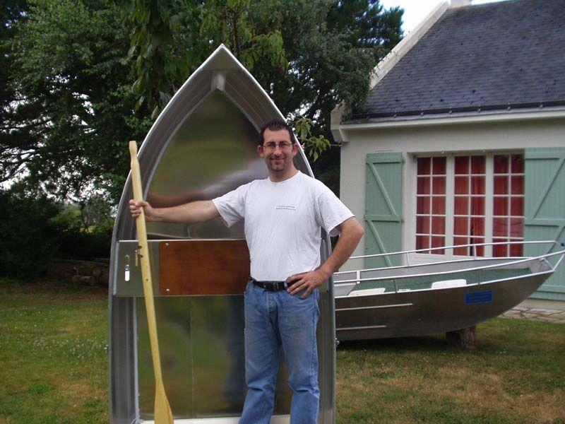 Barque fait main - réalisation unique en aluminium_13