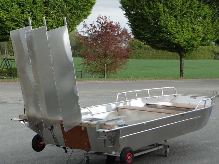 Barque fait main - réalisation unique en aluminium_41