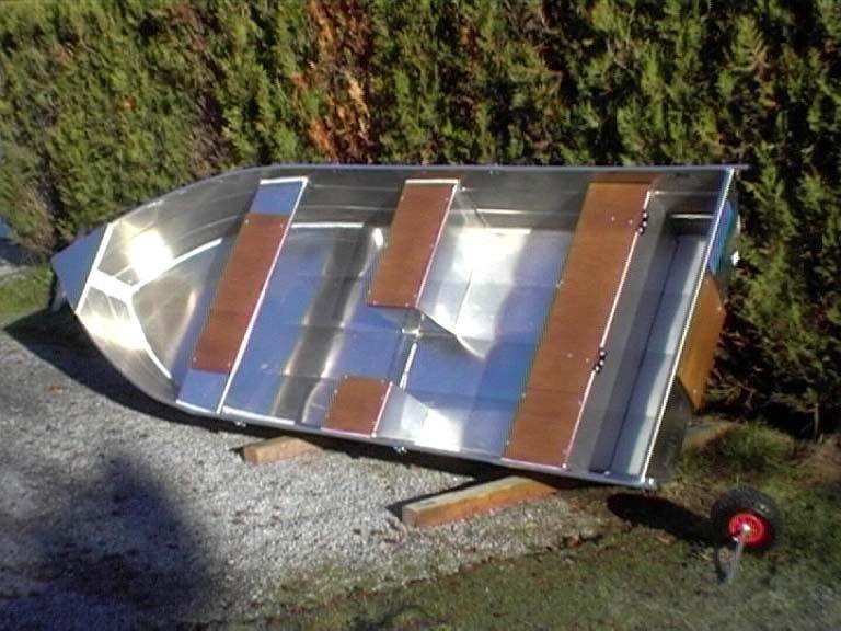 Barque fait main - réalisation unique en aluminium_51