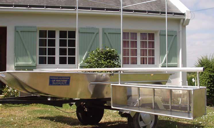 Barque fait main - réalisation unique en aluminium_54