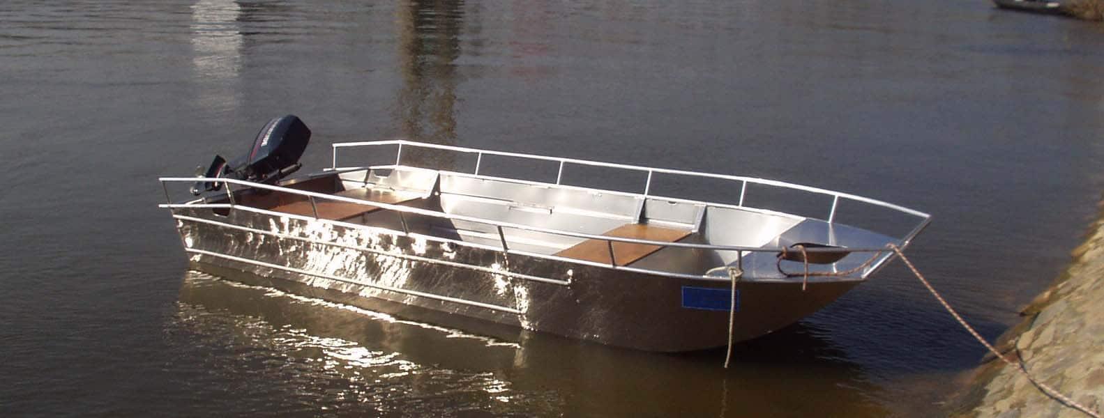barque aluminium soudee