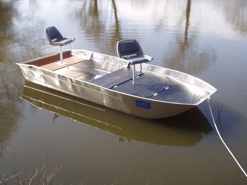 Barque en aluminium équipée de tapis chekker_4